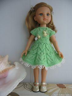 Нежное салатовое платье №3 для вашей Паолочки 32-34 см / Одежда для кукол / Шопик. Продать купить куклу / Бэйбики. Куклы фото. Одежда для кукол