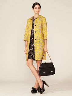 Marni Printed Tweed Coat