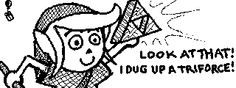 Villager finds a triforce to complete the look and pose of his favorite hero, Link!  Tags: Nintendo Miiverse 3DS WiiU Zelda Animal Crossing
