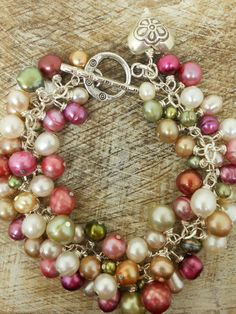 pearl & thai silver bracelet