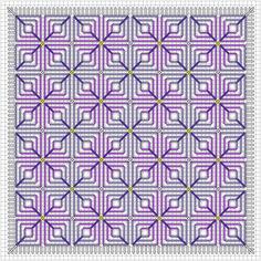 Hydrangea Needlepoint Pattern: Working the Center Area