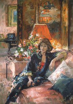 ► Susan Ryder, 1944 British artist. Has painted the Queen and has exhibited widely, her very pretty gardens and house landscapes.  Most are quite a bit too pretty or even fluffy but a few would be easy to live with. JC