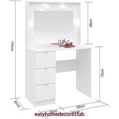 Easy Home Decors Easy Home Decors Diy Makeup Vanity Table, Vanity Makeup Rooms, Vanity Room, Easy Home Decor, Home Office Decor, Home Decor Bedroom, Master Bedroom Design, Interior Design Living Room, Small Room Desk
