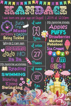 Candyland Birthday Theme by PFChalkboardArt on Etsy
