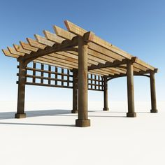 Realms Art Wooden Pergola
