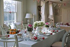 Start to create the Christmas Table with a duck egg table cloth, then lay the table with beautiful hand painted pottery.  Christmas is a special occasion to be celebrated with the very best friends and family.
