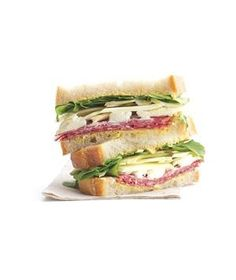 Salami Sandwich With Goat Cheese and Fennel | Try a delicious, wallet-wise, grown-up lunch recipe.