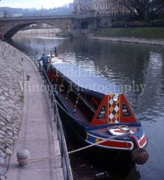 4X-Bath-Cannal-Narrow-Boat-Wiltshire-Stereo-Realist-Stereoview-3D