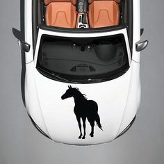 HORSE MUSTANG ANIMAL CUTE DESIGN HOOD CAR VINYL STICKER DECALS GRAPHICS SV3718