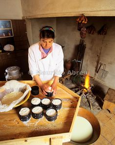 Making cheese. Carvoeiro, Portugal