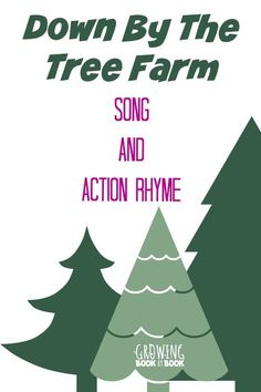 Preschool songs and action rhymes are great for developing literacy skills in preschool children. Down By the Tree will help kids learn about evergreens. Preschool Songs, Preschool Learning Activities, Homeschool Kindergarten, Kids Songs, Writing Activities, Homeschooling, Preschool Ideas, Preschool Literacy, Educational Activities