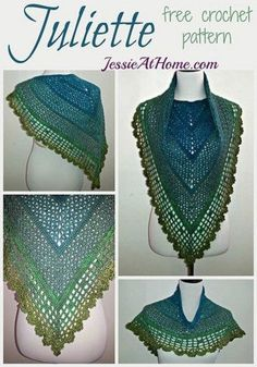 Juliette Shawl ~ Free Crochet Pattern by Jessie At Home- this is simply stunning
