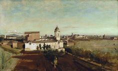 Camille Corot - La Trinité-des-Monts [1825-28] by Gandalf's Gallery on Flickr.