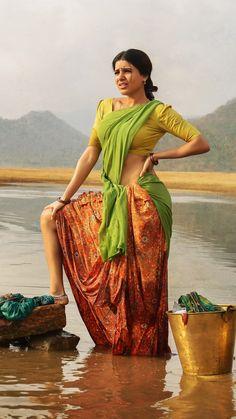 Ram Charan and Samantha Ruth Telugu Movie Rangasthalam- First Look Poster Indian Beauty Saree, Indian Sarees, Indian Bollywood, Bollywood Actress, Girl Artist, Village Girl, India Beauty, Indian Girls, Indian Art