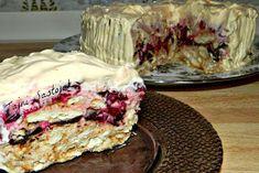 Brza keks torta sa jogurtom i višnjama - recept Torte Recepti, Kolaci I Torte, Brze Torte, Cake Cookies, Cupcake Cakes, Sweet Recipes, Cake Recipes, Albanian Recipes, Torte Cake