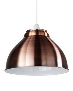 Retro Ceiling Lamp Shade // Light up your breakfast bar or dining table with this beautiful lamp shade from Marks and Spencer. With its retro styling and metallic finish, this on-trend light makes a great statement piece in your home.