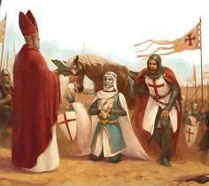 Diversas vezes membros da elite governante, ou religiosa, foram retratados praticando ações piedosas. O rei Balduíno IV rei de Jerusalém é um exemplo desse fato.