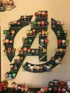 68 Ideas Pop Art Superhero Marvel The Avengers Avengers Room, The Avengers, Funko Pop Avengers, Avengers Memes, Hero Marvel, Marvel Logo, Marvel Marvel, Funko Pop Display, Dorm Room Organization