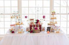 dessert table - photo by Maureen Pacheco Photography http://ruffledblog.com/elegant-latin-hacienda-styled-wedding
