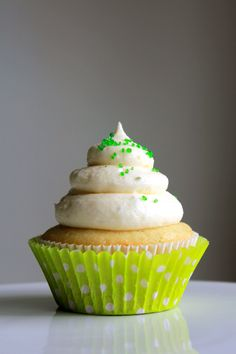 Margarita cupcake with lime cream cheese frosting