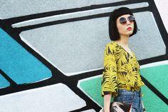 Samantha Mariko: OVERSIZE VINTAGE INSPIRED METAL ROUND CIRCLE SUNGLASSES 8370