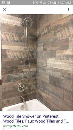 Wood look shower