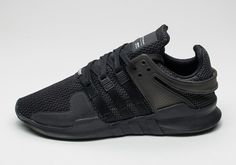 "adidas EQT Support ADV Gets the ""Triple Black"" Treatment This Summer: The retro silhouette gets an all-black makeover. New Sneakers, Sneakers Fashion, Fashion Shoes, Summer Sneakers, Dope Fashion, Adidas Eqt Adv, Reebok, Adidas Eqt Support 93, Nba"