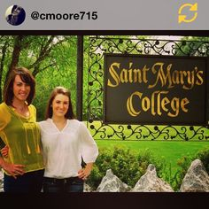 RG @cmoore715: Thanks to @saintmaryscollege I met my roomie for life!