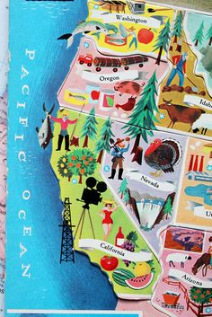 Vintage Puzzle Map (via Smile & Wave) this looks like the cardboard puzzle I put together over and over and over!