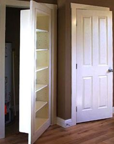 Bookshelf door: perfect for hiding the laundry room off the kitchen