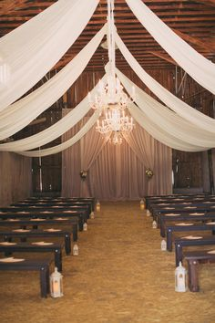rustic ceremony, photo by Alixann Loosle http://ruffledblog.com/blush-and-gold-utah-wedding #venues #weddingceremony #barn
