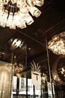 Teqa restaurant in NYC even has a chandelier made out of tequila bottles, to go along with their 100 bottles of tequila