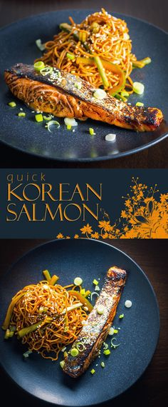 Quick Korean Salmon Recipe: This Korean Salmon dish is so quick and simple it hurts, simply flashed under the broiler after sitting in a really tasty marinade for an hour or so.