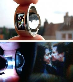 A ring designed to also function as a lo-fi projector. Brilliant!