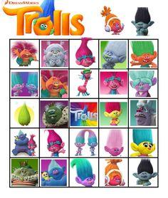 free trolls movie 2016 bingo