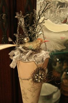 Oak Hollow Primitives: Victorian Paper Cone Ornaments