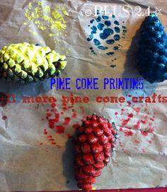 Pine cone painting