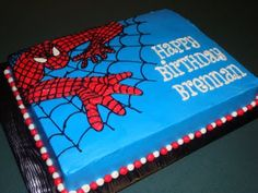 Spiderman Cake Ideas for Little Super Heroes - Novelty Birthday Cakes Spiderman Birthday Cake, Spiderman Theme, Superhero Cake, Superhero Birthday Party, Birthday Fun, Cake Birthday, Spider Man Birthday, Birthday Ideas, Spider Man Party