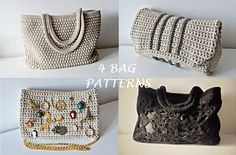Crochet Pattern Crochet Bag Pattern Tote Pattern by isWoolish