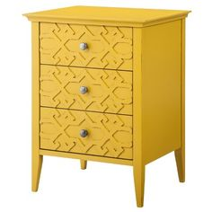 Threshold Fretwork accent table. To go with the grey and yellow bedroom theme. So cute! 89.99 Target