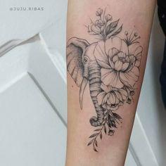 elephant tattoos * elephant tattoos + elephant tattoos small + elephant tattoos with flowers + elephant tattoos mother daughter + elephant tattoos meaning + elephant tattoos for women + elephant tattoos men + elephant tattoos sleeve Elephant Tattoo Meaning, Elephant Tattoo Design, Elephant Tattoos, Elephant Tattoo On Thigh, Sexy Tattoos, Body Art Tattoos, Small Tattoos, Tatoos, Crow Tattoos