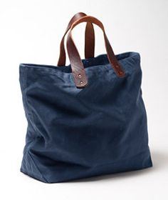 #LLBean: Signature Waxed-Canvas Tote Made in the USA right in Maine. $99