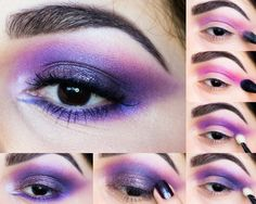 Glittery Purple Smokey Eye - Goth Makeup Inspired Tutoral