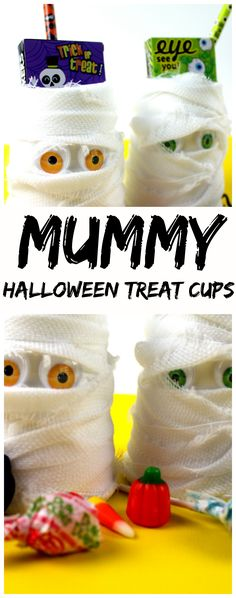 Are you looking for a quick and simple Halloween craft for kids? Make your own Mummy Halloween Treat Cups with this quick and easy tutorial. They also make great party favors!