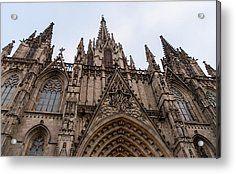 Barcelona - The Cathedral Acrylic Print by Andrea Mazzocchetti