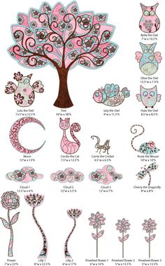 Owl Wall Stickers - Tree & Owl Wall Decals for Girls Room Wall Mural  - FREE SHIPPING (USA)