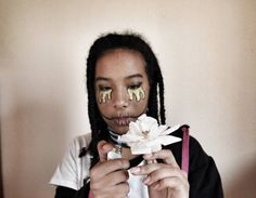 Happy Halloween my sexy human beings #photography #photographer #photo #portrait #photoshoot #ebony #selfportrait #portraitphotography #earrings #makeup #youth #beautiful #artsy #tears #art #glitter #rose #skelleton #halloween #art #me #girl #style #beauty #pretty #model #hair #braids #aesthetic