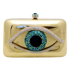 Add a bold and beautiful statement to your outfit with the Butler & Wilson Clutch Bag with Crystal Eye.  Featuring Swarovski crystal, it is a perfect addition to any bag lovers collection!