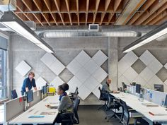 Office Tour: Teach for America Offices – San Francisco – Modern Corporate Office Design Office Furniture Design, Workspace Design, Office Interior Design, Office Interiors, Office Designs, Feature Wall Design, Wall Panel Design, Soundproof Panels, Teach For America