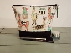 A personal favorite from my Etsy shop https://www.etsy.com/listing/571710853/llama-makeup-bag-large-makeup-bag-llama